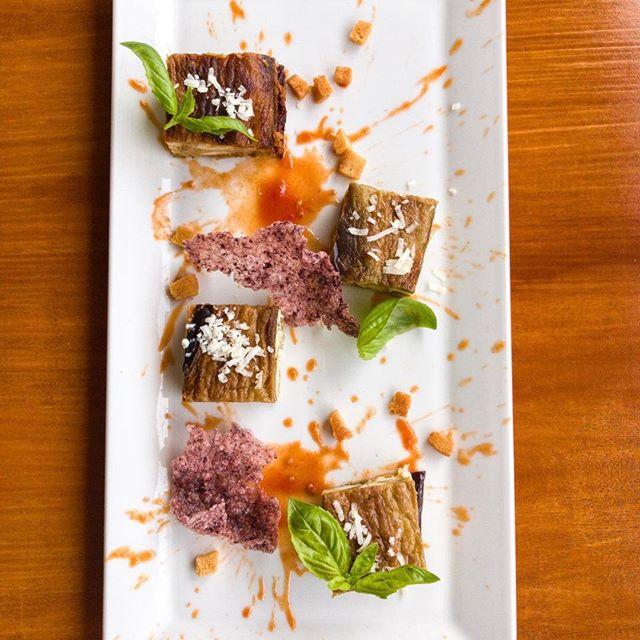 Piatto del giorno: Parmigiana di pesce bandiera. #food #maronti #ischia #ristoranteida #summer #2017 #parmigiana #melanzane #fish