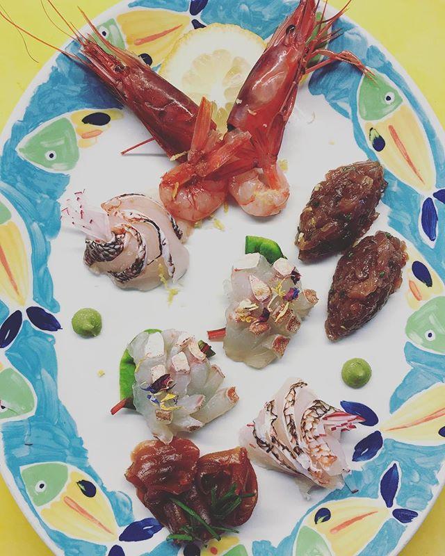 Raw fish today... #summer #2017 #ristoranteida #maronti #ischia #sashimi #food