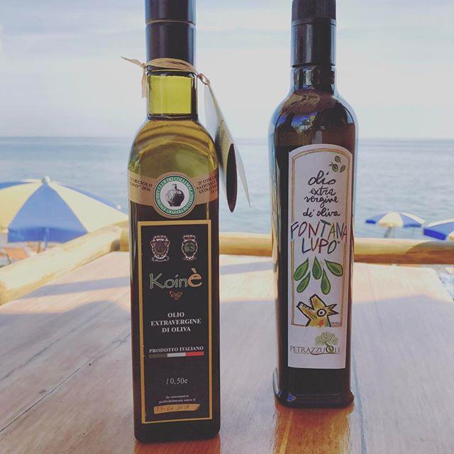 I nostri oli, rigorosamente campani, rigorosamente TOP #ristoranteida #spiaggiadeimaronti #2017 #maronti #olio #slowfood #gamberorosso #koine #fontanalupo
