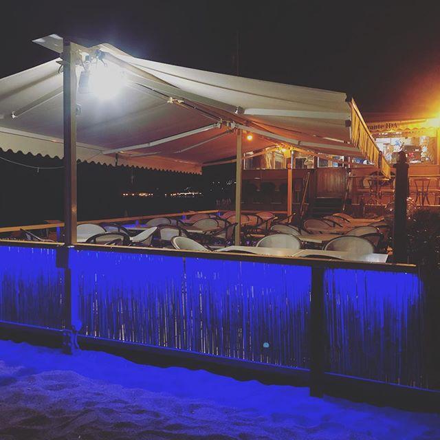 Have a good bighe #ISCHIA #ristoranteida #light #ledlight #night #colors #summer #spiaggiadeimaronti #blue